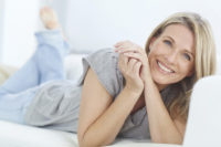 Smiling woman who is happy after individual counselling