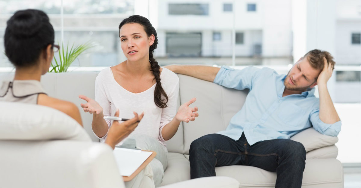 Married couple whom is struggling learning thanks to marriage counselling