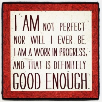 I am not perfect nor will I ever be I am a work in progress